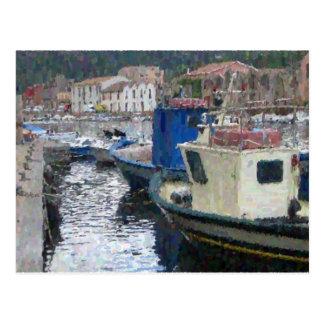 Boats in Sardinia Postcard