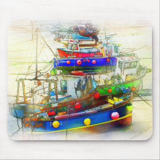BOATS IN ST. IVES HARBOUR MOUSE PAD
