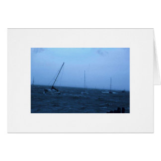 Boats in Storm Greeting Card