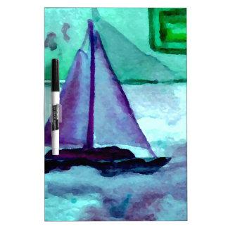 Boats in the Bathtub Sailing Art CricketDiane Dry-Erase Board