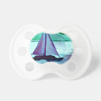 Boats in the Bathtub Sailing Art CricketDiane Baby Pacifier