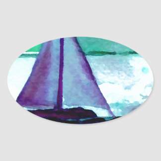 Boats in the Bathtub Sailing Art CricketDiane Stickers