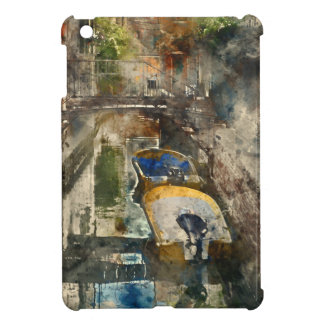 Boats in the Canals of Venice Italy iPad Mini Cover