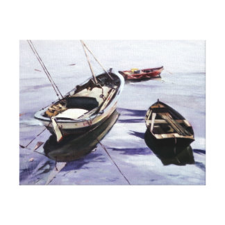 Boats in the Dock (To Corunna) Canvas Print