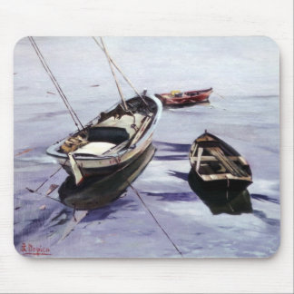 Boats in the Dock (To Corunna) Mouse Pad