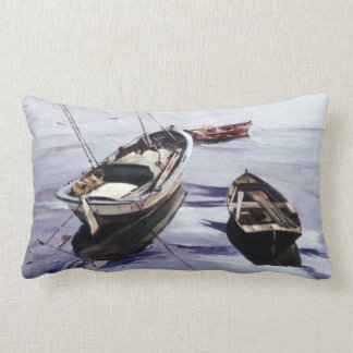 Boats in the Dock (To Corunna) Pillow