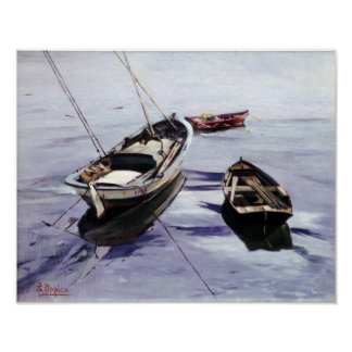 Boats in the Dock (To Corunna) Poster