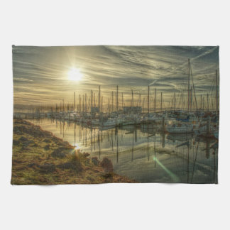Boats in the Harbor 2 Kitchen Towels