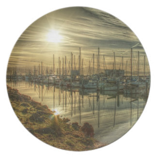 Boats in the Harbor 2 Plate