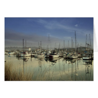 Boats In The Harbor Card
