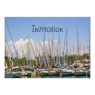 Boats in the Harbour Invitation