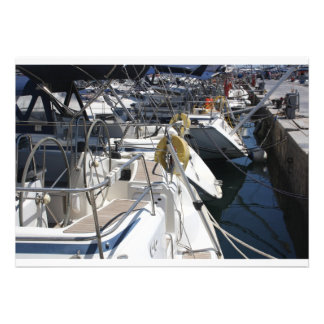 Boats in the harbour invitations