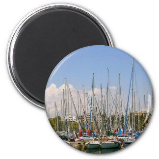 Boats in the Harbour Magnet