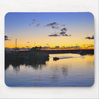 boats in the harbour mouse pad
