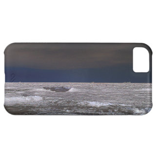 Boats in the ice sea from the coast iPhone 5C case