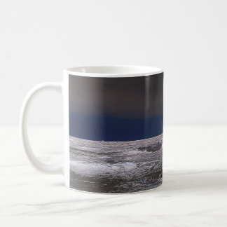 Boats in the ice sea from the coast classic white coffee mug