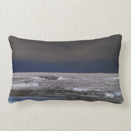 Boats in the ice sea from the coast pillow