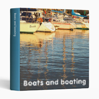 Boats in the marina 3 ring binder