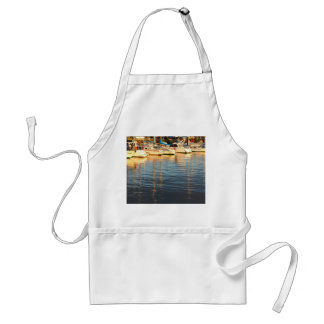 Boats in the marina adult apron