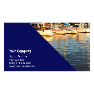 Boats in the marina business card