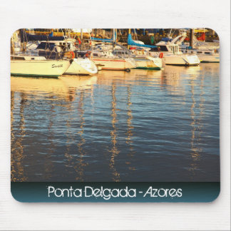 Boats in the marina mouse pad