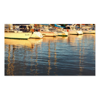 Boats in the marina - Pocket calendar Business Card