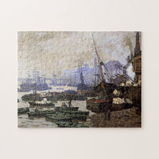 Boats in the Pool of London Monet Fine Art Jigsaw Puzzle