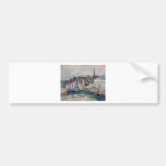 Boats in the Port of Honfleur by Claude Monet Bumper Sticker