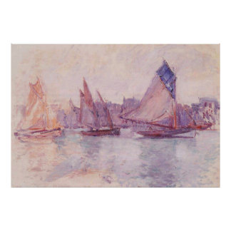 Boats in the Port of Le Havre,1882–1883 Poster