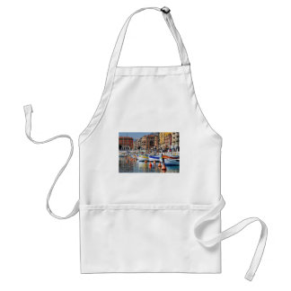 Boats in the port of Nice in France Adult Apron
