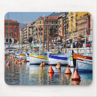 Boats in the port of Nice in France Mouse Pad