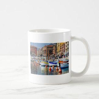 Boats in the port of Nice in France Mug