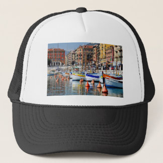 Boats in the port of Nice in France Trucker Hat