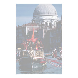 Boats in the Regatta Storica on the Grand Canal Custom Stationery