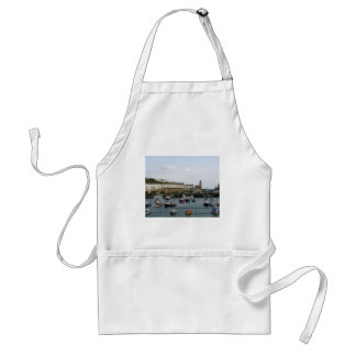 Boats in the village harbour aprons