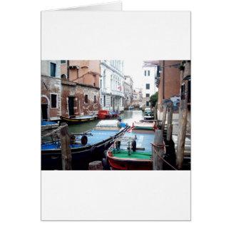 Boats in Venice Card