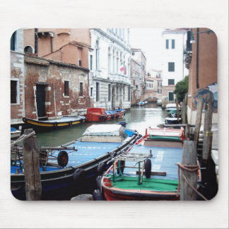 Boats in Venice Mouse Pad