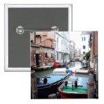 Boats in Venice Pinback Button