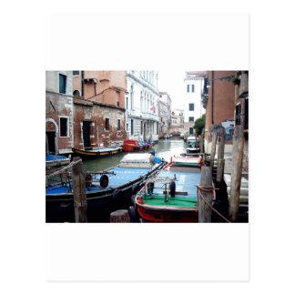 Boats in Venice Postcard