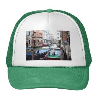Boats in Venice Trucker Hat