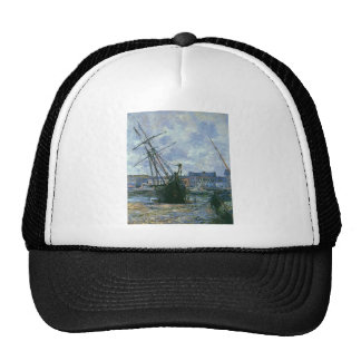 Boats Lying at Low Tide at Facamp by Claude Monet Trucker Hat