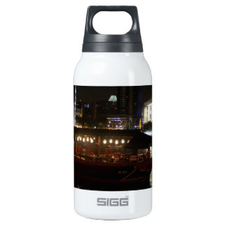 Boats moored at Clarke Quay 10 Oz Insulated SIGG Thermos Water Bottle