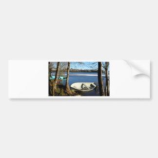 Boats moored  Lough Erne Northern Ireland Bumper Sticker