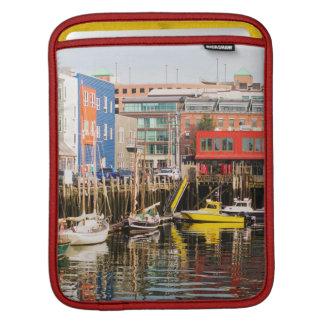 Boats Moored   Portland, Maine iPad Sleeve