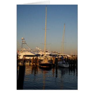 Boats, Nantucket Harbor Greeting Card