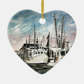 boats nautical art ceramic ornament