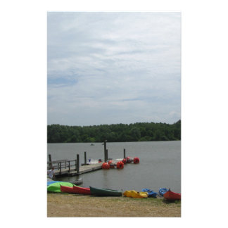 Boats Near the Dock at Core Creek Park Stationery