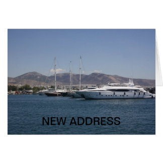 Boats NEW ADDRESS Card