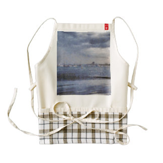 Boats off the beach zazzle HEART apron