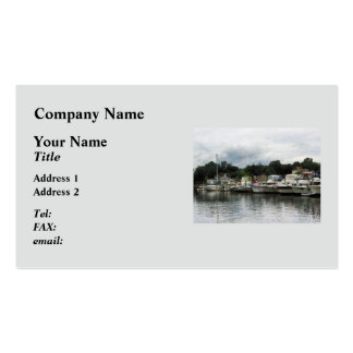 Boats on a Cloudy Day Essex CT Business Card Templates